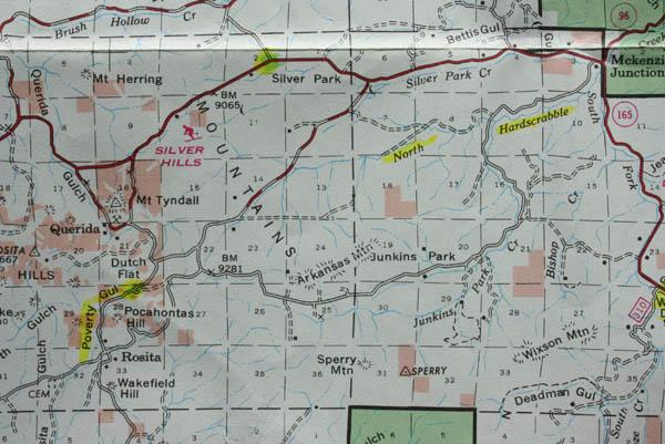 San Isabel National Forest Map