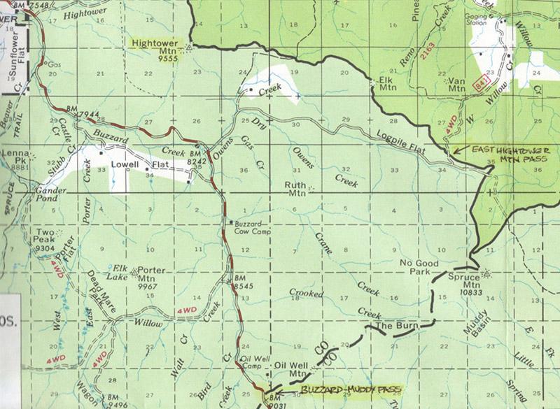 East Hightower Mountain Pass - Pass Bagger